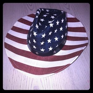 AMERICAN FLAG - 4TH OF JULY - COWBOY HAT